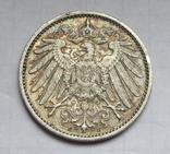 1 марка 1907 г. (Е) Германия, серебро, фото №5