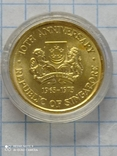 100 долларов 1975 Сингапур золото 6,91 гр. 900 (0,2 oz), фото №3
