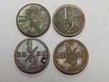 4 монеты по 1/2 скиллинга, Дания, фото №2