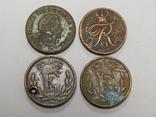 4 монеты по 1/2 скиллинга, Дания, фото №3