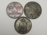 3 монеты по 5 оре, Швеция, фото №3