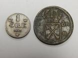 2 монеты по 1 оре, Швеция, фото №2