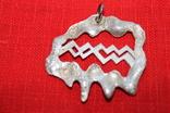 """Кулон знак зодиака"""" Водолей"""" серебро, фото №3"""