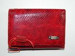 Кожаный красный кошелек, фото №2