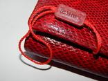 Кожаный красный кошелек, фото №3