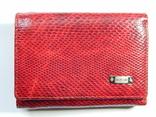 Кожаный красный кошелек, фото №11