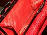 Кожаный красный кошелек, фото №12