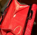 Кожаный красный кошелек, фото №13