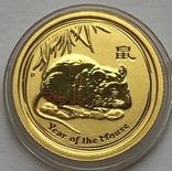 5 долларов 2008 года. Год крысы. 1/20 унции, фото №2