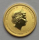 5 долларов 2008 года. Год крысы. 1/20 унции, фото №3