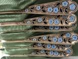 Набор ложек с эмалью. Период СССР, фото №3