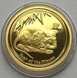 15 долларов 2008 года. Год Крысы. Пруф. 1/10 унции, фото №2
