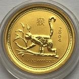 15 долларов 2004 года. Год обезьяны. 1/10 унции, фото №2
