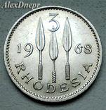 Родезия, 3 пенса-2 1/2 цента (1968 г.), фото №2