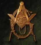 Масонский  ритуальная герб знак табличка настольная, фото №2