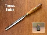 Thomas Turton Антикварная полукруглая стамеска шириной 18мм., фото №2