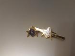 Зажим для галстука и значок с масонской символикой, фото №2