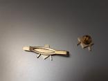 Зажим для галстука и значок с масонской символикой, фото №3