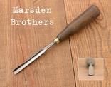 Marsden Brothers, Sheffield, England Антикварная отлогая стамеска шириной 11мм, фото №2