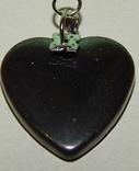 Кулон сердечко из черного нефрита, фото №2