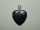 Кулон сердечко из черного нефрита, фото №3