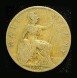 Великобритания 1/2 пенни 1908, фото №3