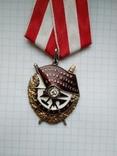 Орден боевого красного знамени, серебряная копия, фото №6