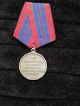 Медаль за отличие в охране общественного порядка, серебряная копия, фото №2