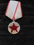 Медаль 20-ть лет РККА, серебряная копия, фото №2