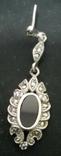 Набор серебро подвеска (кулон) и сережки Винтаж, фото №9
