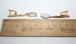Набор серебряный с позолотой и золотыми накладками, фото №7