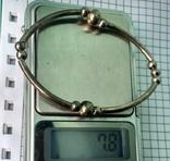 Браслет латунь покрыт 925. 7,8 грм, фото №11