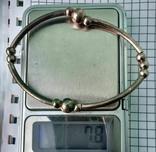 Браслет латунь покрыт 925. 7,8 грм, фото №12