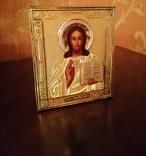 Икона Господь Вседержитель, 19 век, оклад серебро 84 проба, фото №4