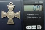 Георгиевский крест 3 степ. Белый металл. Копия., фото №13
