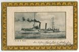 Германская Империя. Крейсер НИОБЕ. Золотое тиснение, фото №2
