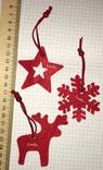 3 брендированные войлочные игрушки L'ambre / Ламбрэ (олень, звезда, снежинка), фото №3