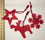 3 брендированные войлочные игрушки L'ambre / Ламбрэ (олень, звезда, снежинка), фото №4