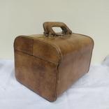 Винтажный кожаный чемоданчик. 29х21х23см, фото №2