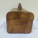 Винтажный кожаный чемоданчик. 29х21х23см, фото №4