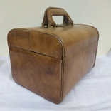 Винтажный кожаный чемоданчик. 29х21х23см, фото №7