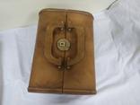 Винтажный кожаный чемоданчик. 29х21х23см, фото №8