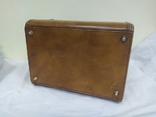 Винтажный кожаный чемоданчик. 29х21х23см, фото №12