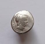 Денарий Римской республики Л. Рустий 74 г.до н. э., фото №2