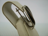 Серебряные Серьги Тигровый Глаз Овал Английская Застежка 925 проба Серебро 011 фото 4