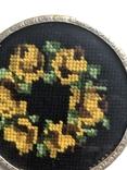 Две  старые подставки, вышивка шерстью. Германия, фото №4