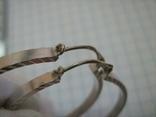 Серебряные Серьги Сережки Кольцо Алмазная Грань 925 проба Серебро 010 фото 4