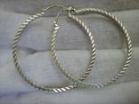 Серебряные Серьги Сережки Кольцо Алмазная Грань 925 проба Серебро 010 фото 6