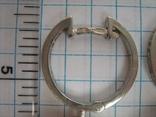 Серебряные Серьги Сережки Английская Застежка Крупные Подвески Сфера Шар 925 проба 030 фото 7