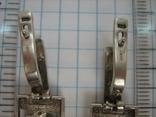 Серебряные Серьги Сережки Английская Застежка Длинные Свисающие 925 проба Серебро 040, фото №7